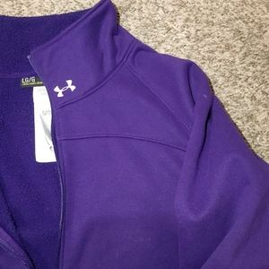 Under Armour Purple Half-zip Fleece Pullover